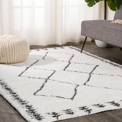 4'x6' Rectangle Woven Trellis Area Rug White - JONATHAN  Y