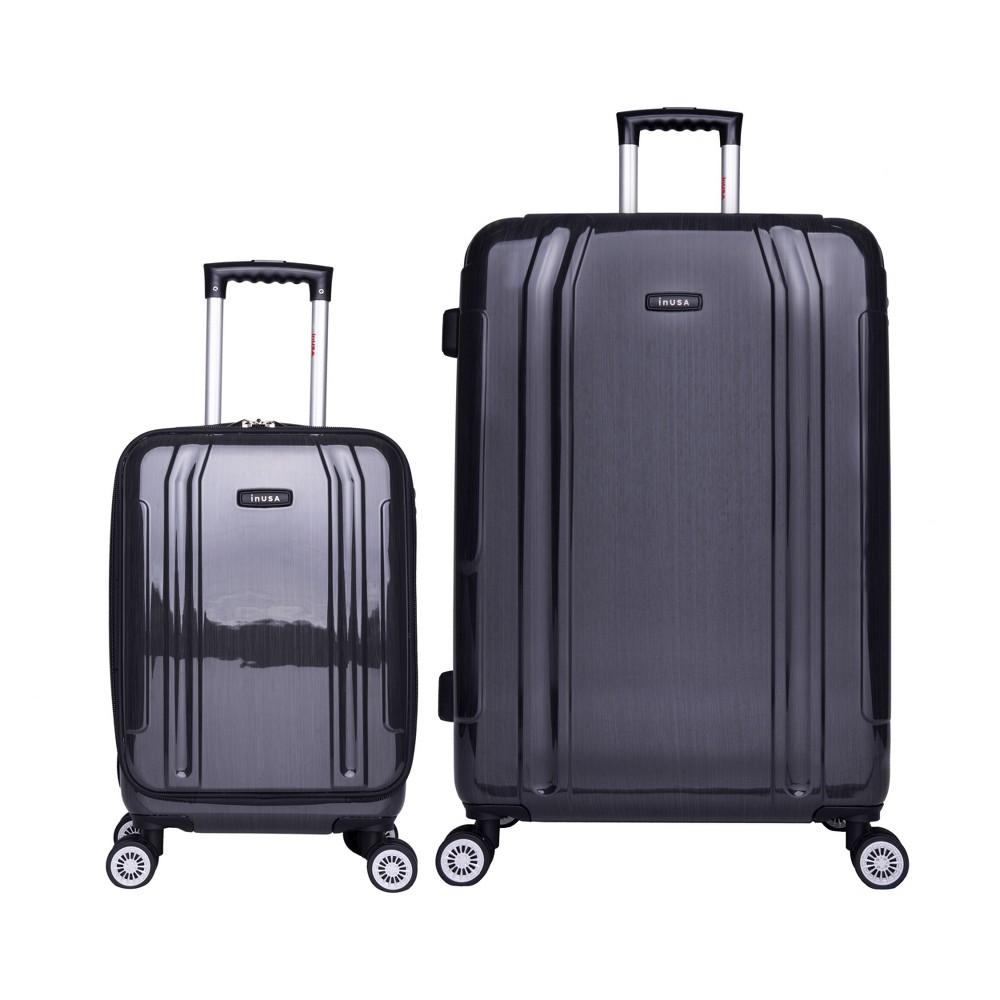 InUSA SouthWorld 2pc Hardside Spinner Luggage Set 19