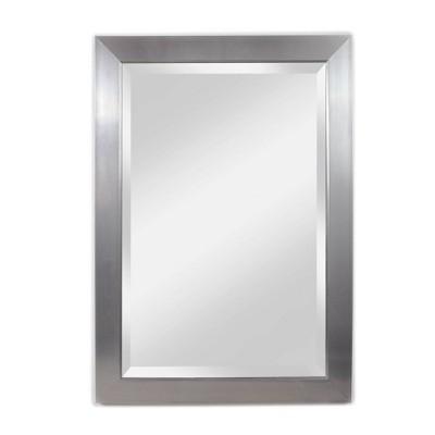 """29"""" X 41"""" Contempo Beveled Glass Wall Mirror Silver - Alpine Art & Mirror"""