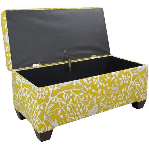 Custom Upholstered Storage Bench Pantheon Dandelion Skyline Furniture Target