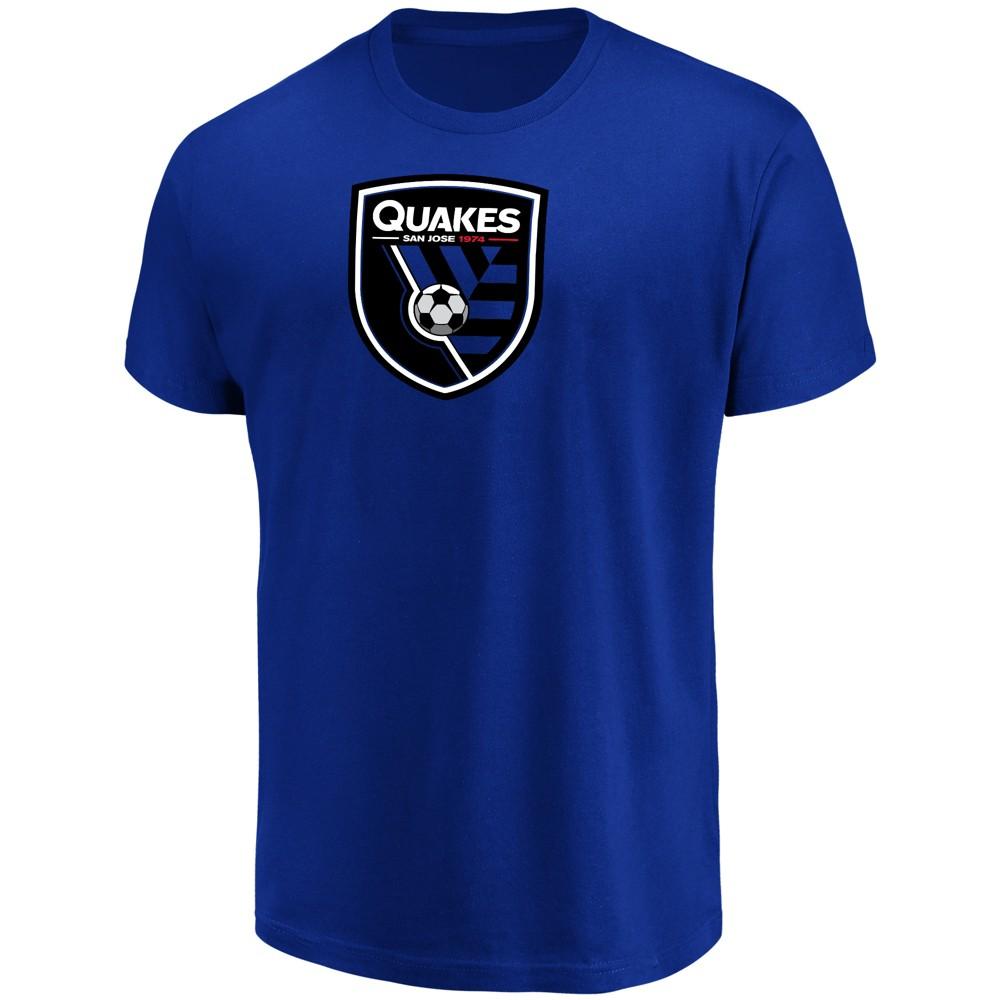 Mls Men's Short Sleeve Top Ranking Core T-Shirt San Jose Earthquakes - M, Multicolored