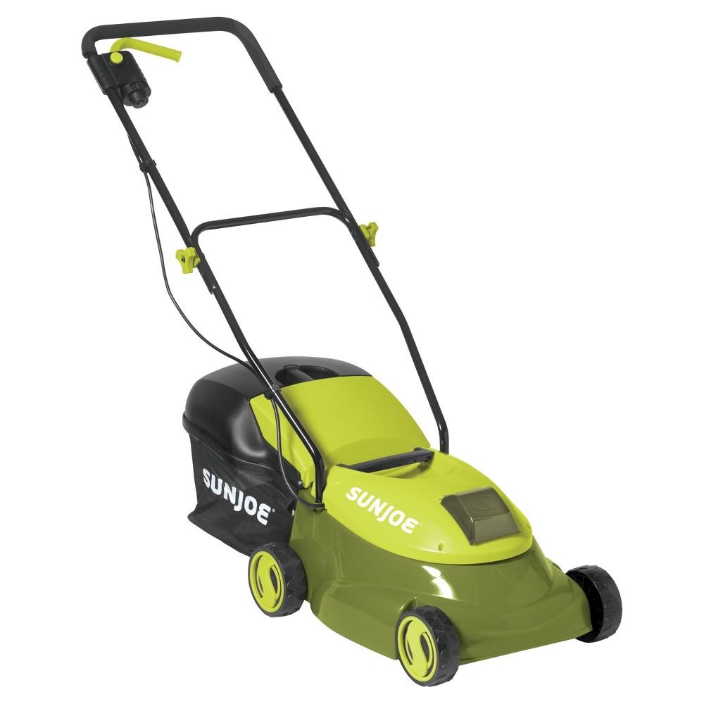 "Image of ""Sun Joe 14"""" 28 Volts Cordless Lawn Mower - Green"""