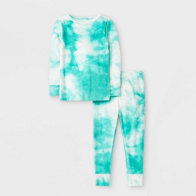 Toddler Girls' Tie-Dye Pajama Set - Cat & Jack™ Green