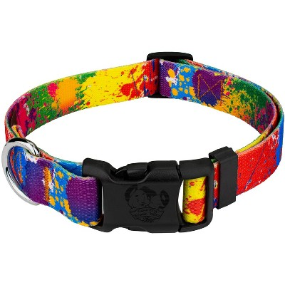 Country Brook Design® Deluxe Paint Splatter Dog Collar - Made in The U.S.A.