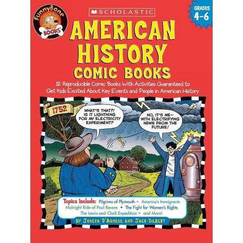 American History Comic Books - (Funnybone Books) by  Jack Silbert & Joseph D'Agnese (Paperback) - image 1 of 1