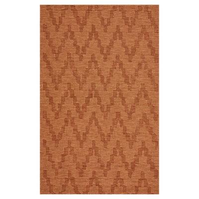 5'X8' Geometric Woven Area Rugs Orange - Weave & Wander