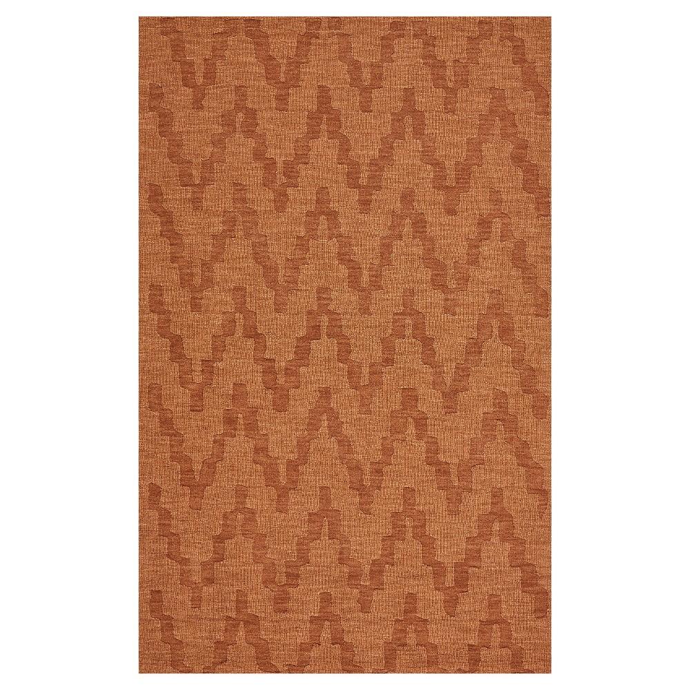 8'X11' Geometric Woven Area Rugs Orange - Room Envy