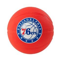 "NBA Spalding Philadelphia 76ers Mini 3"" Rubber Basketball"