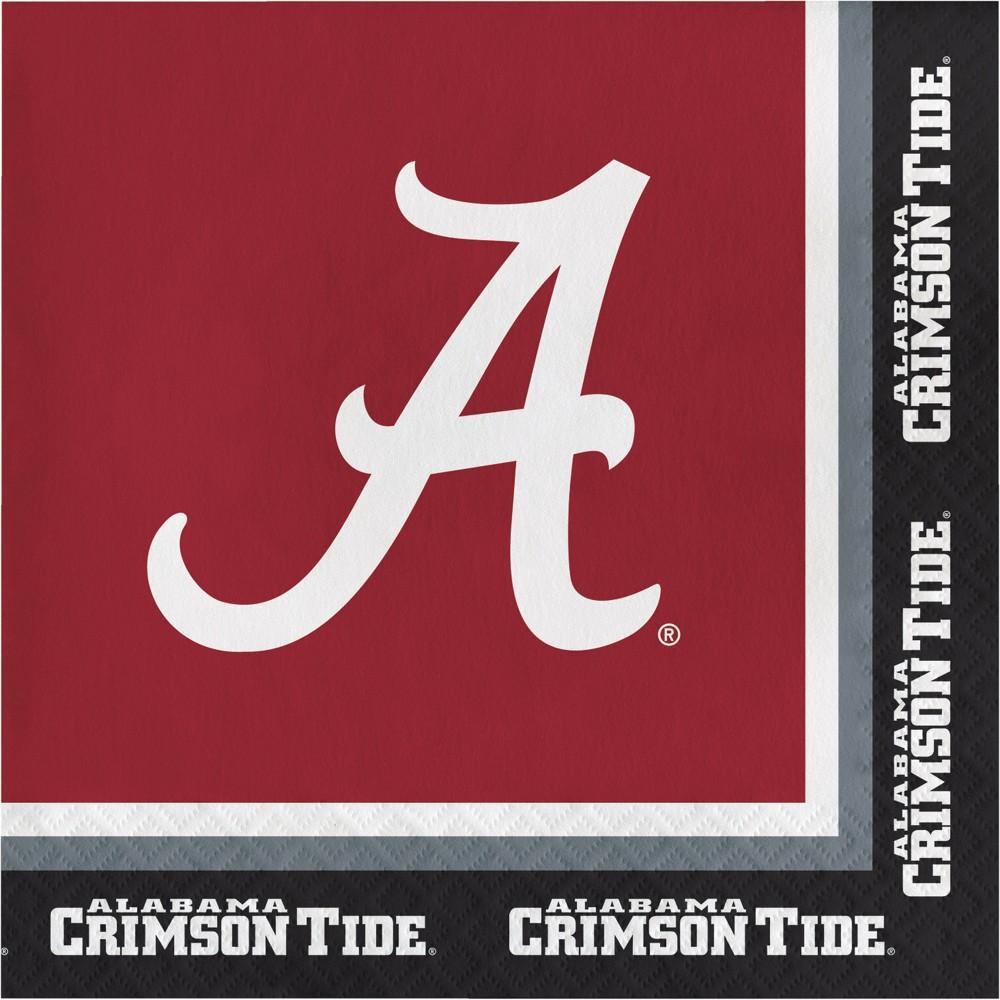 Image of 20ct Alabama Crimson Tide Beverage Napkins