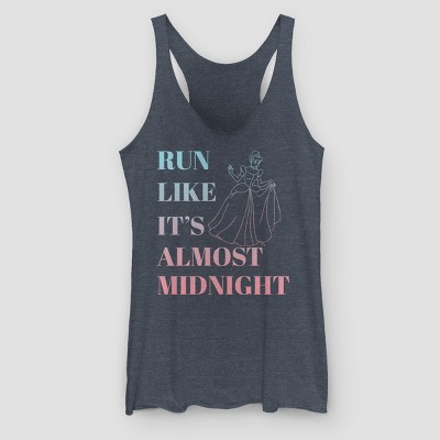 Women's Disney Run Like It's Almost Midnight Graphic Tank Top - Navy