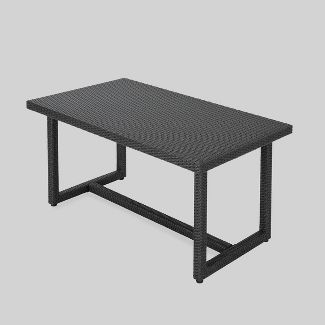 Santa Rosa Rectangle Wicker Dining Table - Gray - Christopher Knight Home