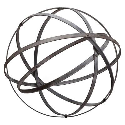 11.75  Metal Small Outdoor Sculpture - Almost Black - Foreside Home & Garden
