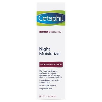 Cetaphil Redness Night Relief Moisturizer Unscented - 1.7oz