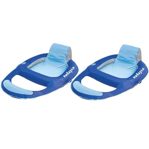 Kelsyus Floating Pool Lounger Inflatable Chair w/ Cup Holder Blue (2 Pack) 80014 - image 1 of 4
