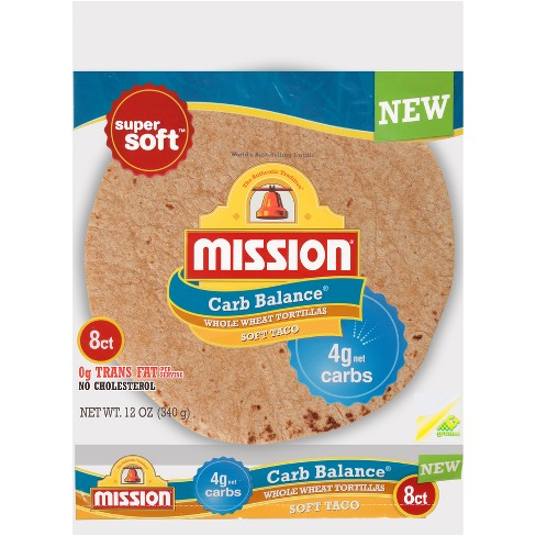 Mission Carb Balance Soft Taco Whole Wheat Tortillas - 8ct - image 1 of 1