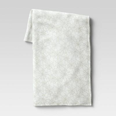 "50""x60"" Spider Web Plush Throw Blanket White - Hyde & EEK! Boutique™"