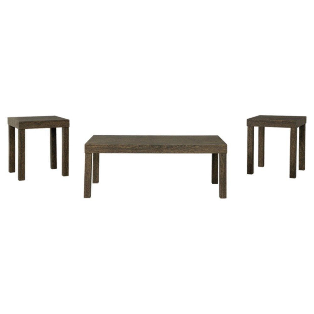 Set of 3 Keilson Occasional Table Set Brown - Signature Design by Ashley