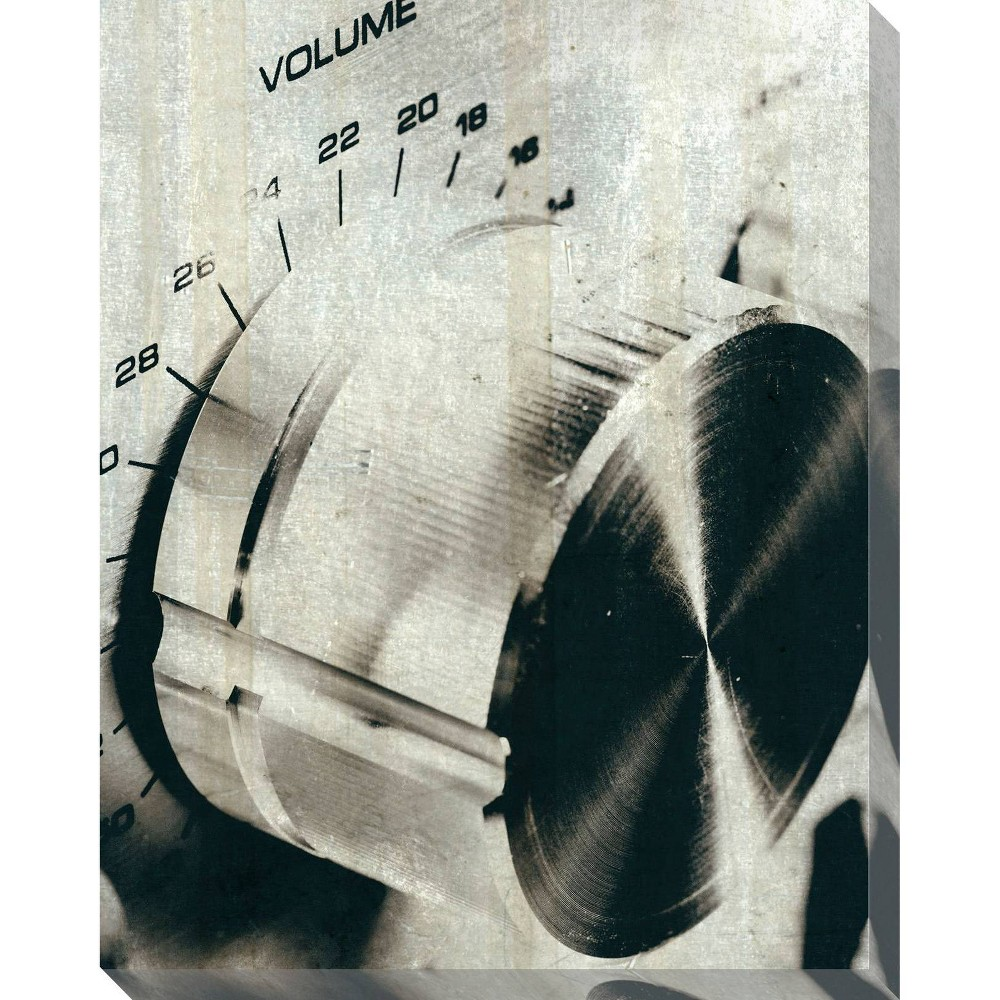 Image of Sound Check Volume Unframed Wall Canvas Art - (24X30)