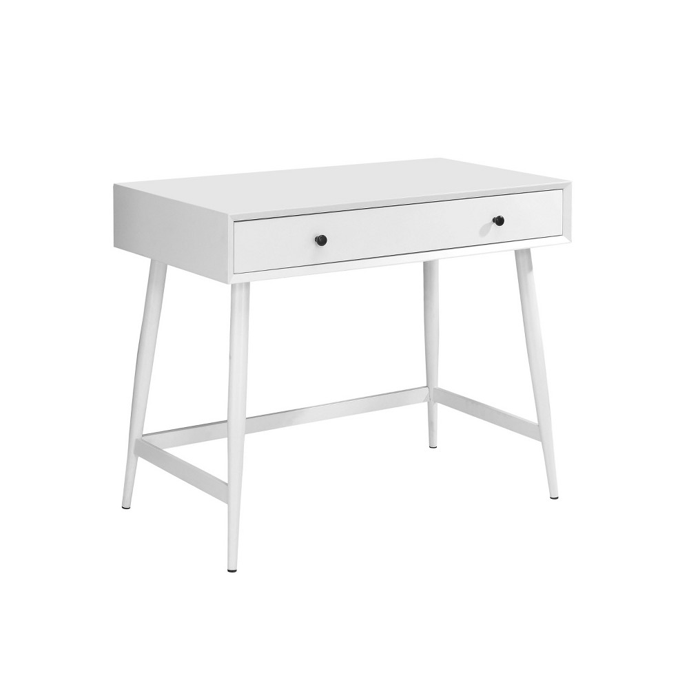 Iohomes Pier Mid Century Modern Spacious Writing Desk White - Homes: Inside + Out