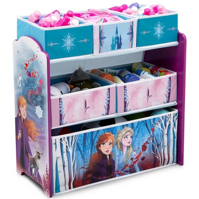 Disney Frozen 2 Design and Store 6 Bin Toy Organizer - Delta Children