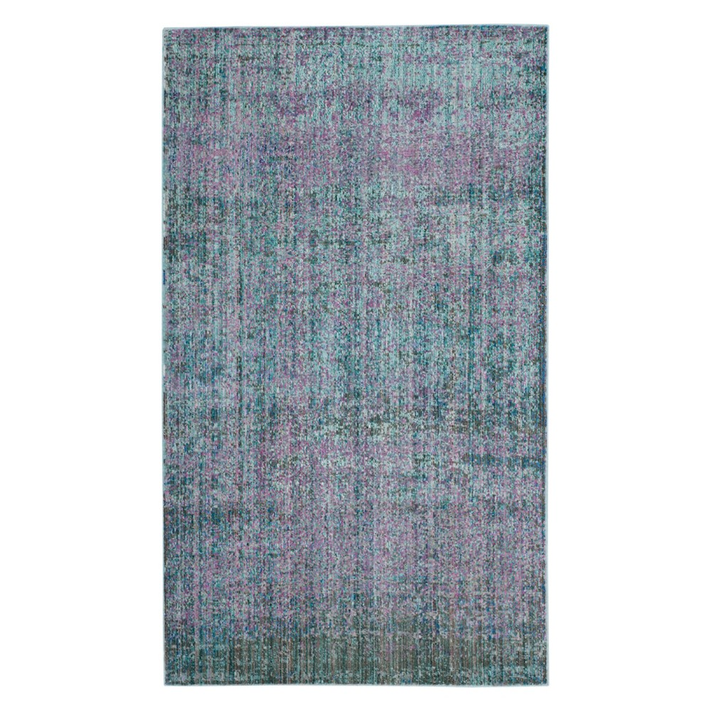 3'X5' Solid Loomed Accent Rug Turquoise - Safavieh, Turquoise/Multi-Colored