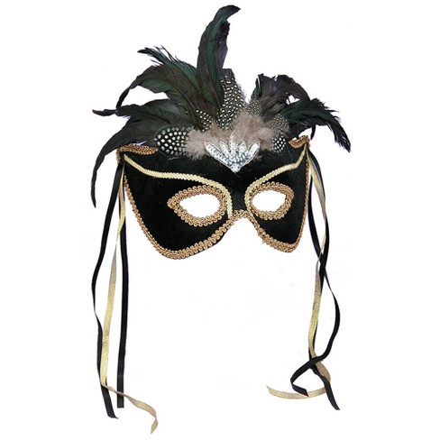 Costume Mask Mardi Gras Halloween Costume Party White Black Silver Green