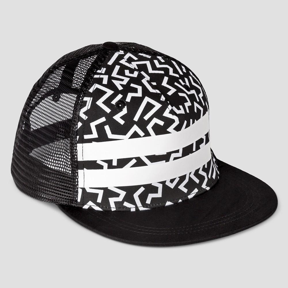 Boys' Geo Stripe Baseball Hat - Art Class Black/White One Size