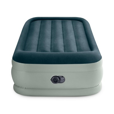 "Intex Elevated 18"" Premium Comfort Twin Air Mattress with Internal Pump"
