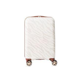 """Path Travel 22"""" Hardside Suitcase - Zebra Cream"""