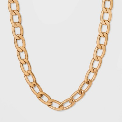 Chunky Flattened Curb Chain Necklace - Universal Thread™