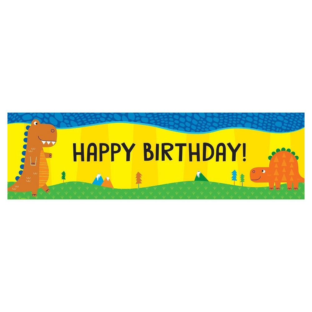 T-Rex Party Banner, Multi-Colored