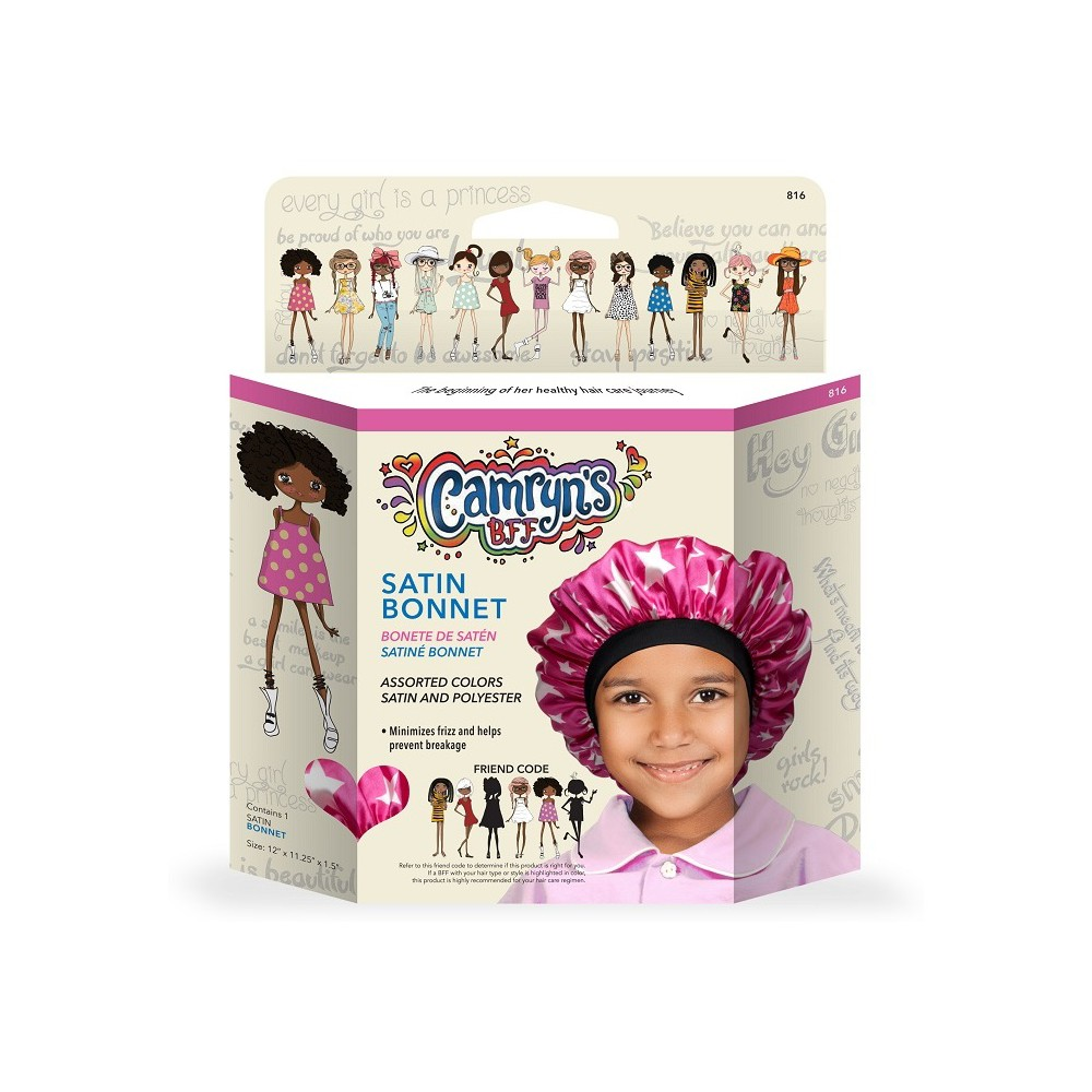 Camryn's Bff Satin Bonnet - 1ct, Multi-Colored
