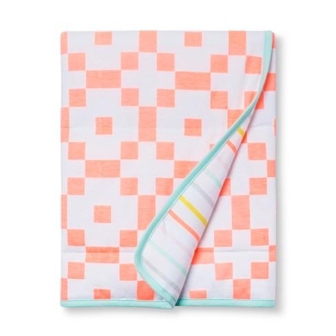 Jersey Knit Blanket Hexagon - Cloud Island™ Moxie Peach - image 1 of 2