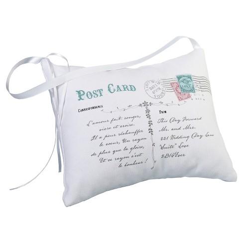 Postcard Ring Bearer Pillow - White - image 1 of 1