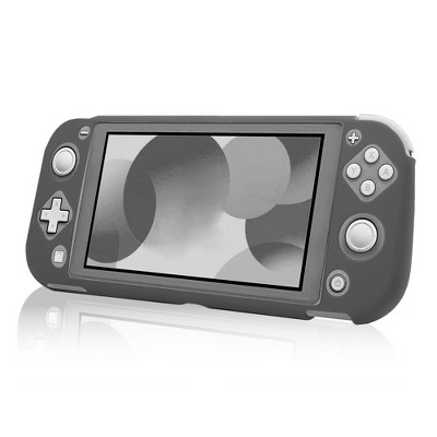 Insten Soft Silicone Skin [Lightweight][Anti-Scratch] Protective Rubber Gel Jelly Full Body Grip Cover Compatible with Nintendo Switch Lite 2019 Gray