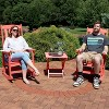 All-Weather Rocking Chair Set of 2 with Folding Side Table - Salmon - Sunnydaze Decor - image 3 of 4