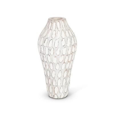 Lone Elm Studios Set of 2 11-inch tall Wooden Flower Vase