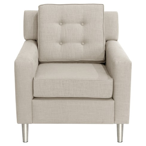 Parkview Chair with Silver Legs - Talc Linen - Skyline Furniture - image 1 of 3