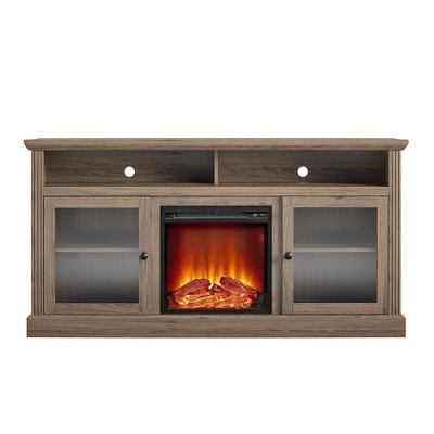 "65"" Pinnacle Point Fireplace Tv Stand - Room & Joy"