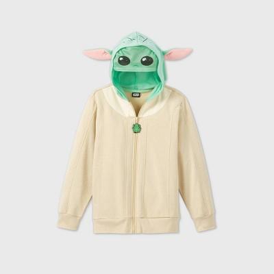 Boys' Star Wars The Mandalorian Baby Yoda Sweatshirt - Beige/Green