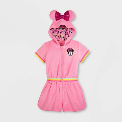 Girls' Disney Minnie Mouse Cover Up - Pink - Disney Store