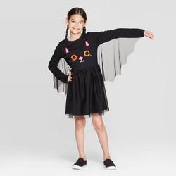 Girls' Halloween Bat Dress - Cat & Jack™ Black