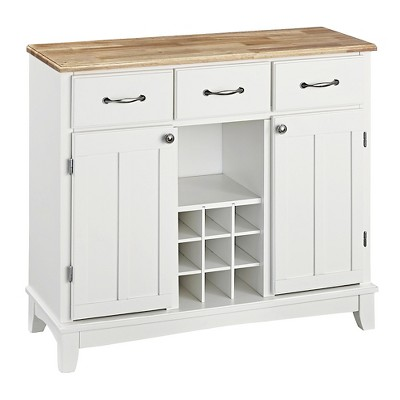 Hutch-Style Buffet Wood/White/Natural - Home Styles