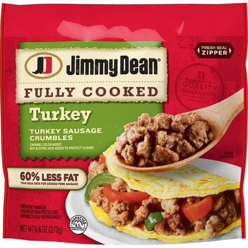 Jimmy Dean Fully Cooked Turkey Sausage Crumbles - 9.6oz - image 1 of 2