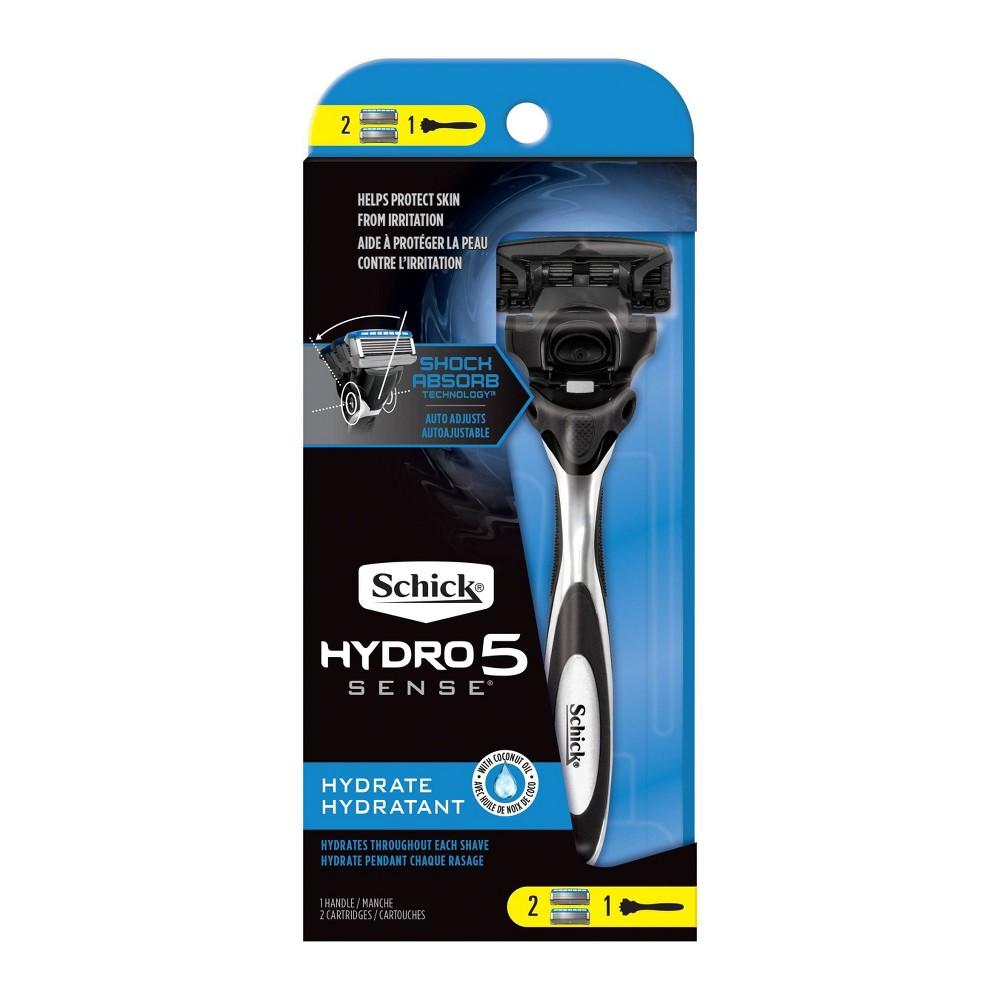 Image of Schick Hydro Sense Hydrate Men's Razor - 1 Razor Handle and 2 Refills