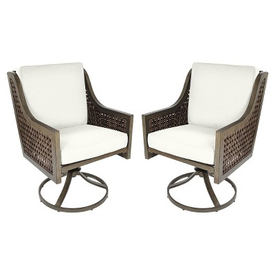 Merveilleux Fabron 2pk Wicker Swivel Rocker Dining Chair   Threshold™