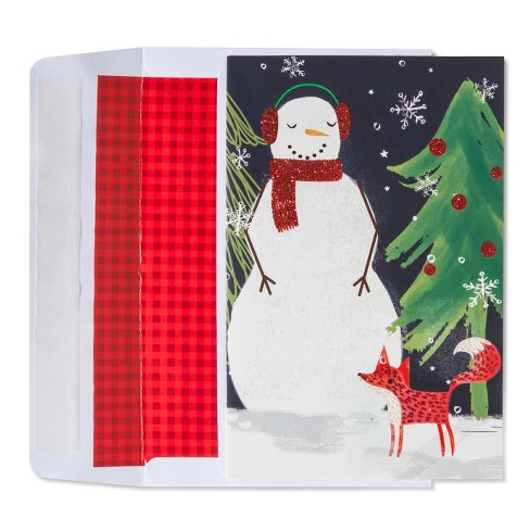 American Greetings 40ct Snowman with Fox Holiday Boxed Cards - image 1 of 1
