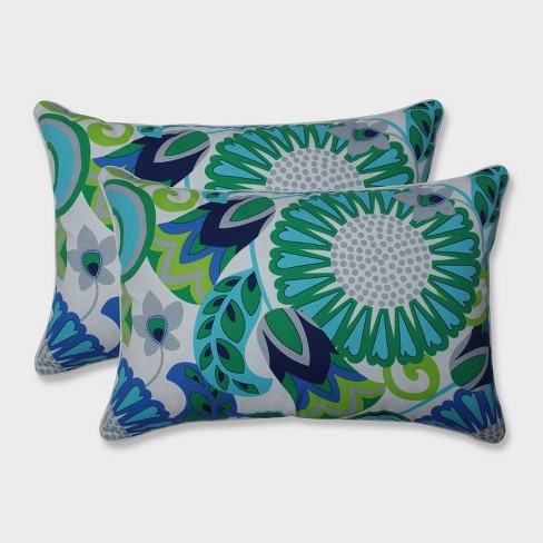 2pk Oversize Sophia Rectangular Throw Pillows Green - Pillow Perfect - image 1 of 1