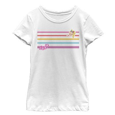 Girl's Jojo Siwa Rainbow Stripes T-Shirt