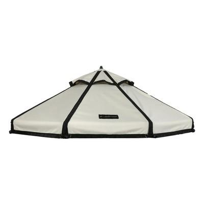 Advantek Pet 5 Foot Pet Outdoor Gazebo Designer Polyester Market Canopy Cover Tarp Umbrella Top, Beach Sand
